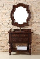 36 Inch Single Sink Bathroom Vanity in Antique Cognac