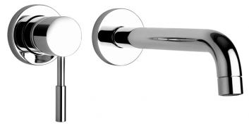 Two Hole Wall Mount Bathroom Faucet