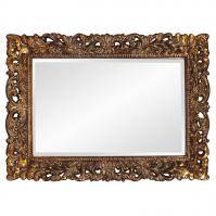 Barcelona Mirror with Antique Gold Leaf Finish