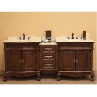 83 Inch Double Sink Bathroom Vanity in Medium Walnut