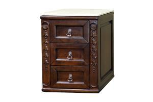 Extra Drawer Storage Bridge Cabinet in Walnut