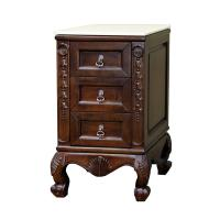 Bellaterra Home Extra Drawer Storage Bridge Cabinet in Walnut Finish