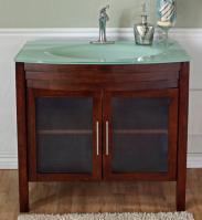 40 Inch Single Sink Bathroom Vanity with a Medium Walnut Finish
