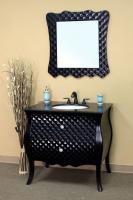 36 Inch Single Sink Bathroom Vanity in Black