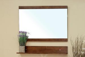 Rectangular Solid Wood Walnut Side Cabinet