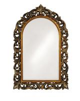 Howard Elliott Orleans Antique Bronze Mirror with Gold Inset