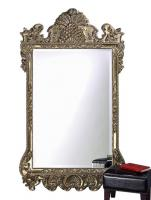 Antique Rectangular Silver Leaf Leaner Mirror