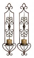 2 Piece Privas Metal Candle Wall Sconces