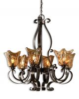 Vetraio 6 Light Oil Rubbed Bronze Chandelier