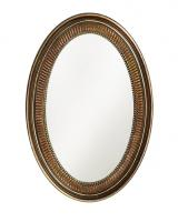 Howard Elliott Ethan Oval Mirror with Museum Bronze Finish
