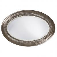 Ethan Oval Brushed Nickel Mirror