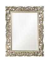 Bristol Antique Black Mirror With Silver Accents Uvhe6041