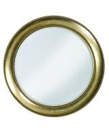 Howard Elliott Saturn Round Burnished Silver with Red Highlights Mirror