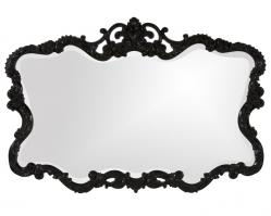 Talida Unique Glossy Black Lacquer Mirror