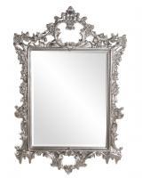 Howard Elliott Sherman Rectangular Bright Silver Leaf Mirror