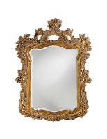 Turner Antiqued Gold Ornate Bathroom Wall Mirror