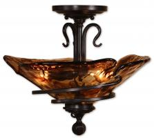 Uttermost 3 Light Semi Flush Mount Ceiling Light Fixture