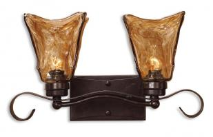 Uttermost 2 Light Vanity Strip Lighting in Oil Rubbed Bronze