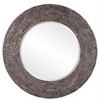Orlando Mother of Pearl Shell Onlay Round Mirror