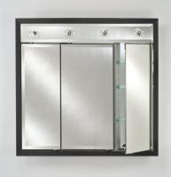 Afina Signature Collection Custom Framed Triple Door Medicine Cabinet with Contemporary Integral Lighting