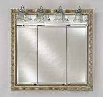 Signature Collection Custom Framed Triple Door Medicine Cabinet with Traditional Integral Lighting