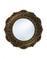 Howard Elliott Erica Round Antique Copper Mirror
