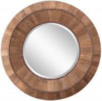 Cooper Classics Andrea Natural Rustic Wood Round Mirror
