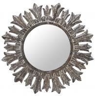 Cooper Classics Marco White Wash Round Mirror