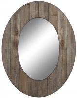Cooper Classics Mammoth Rustic Grey Oval Mirror