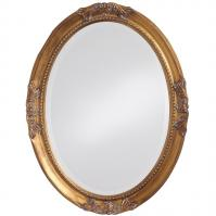 Queen Ann Antique Gold Oval Bathroom Wall Mirror