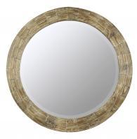 Kettler Natural Wood Round Mirror