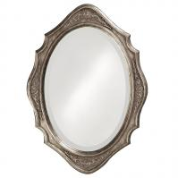 Trafalga Mirror with Virginia Silver Leaf Finish