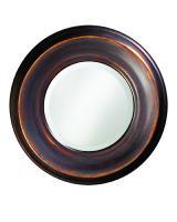 Howard Elliott Dublin Round Burnished Copper Mirror