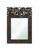 Howard Elliott Oakvale Rectangular Antique French Brown Mirror
