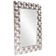 Modern Large Silver Rectangular Wall Mirror
