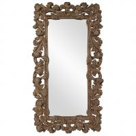 Cynthia Antique Copper with Gold & White Wash Accent Baroque Mirror