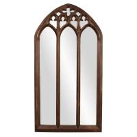 Basilica Tall Arched Tuscan Brown Mirror