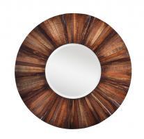 Cooper Classics Kona Natural Rustic Wood Round Mirror