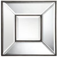 Cooper Classics Olivia Aged Bronze Square Mirror