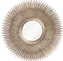 Singapore Round Silver Leaf Mirror