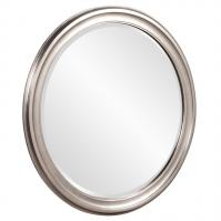 George Brushed Nickel Round Mirror