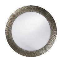 Small Bergman Silver Round Mirror