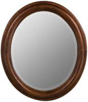 Cooper Classics Addision Oval Decorative Mirror in Cherry