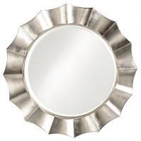Corona Round Silver Leaf Wall Mirror