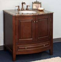 36 Inch Single Sink Bathroom Vanity in Dark Walnut