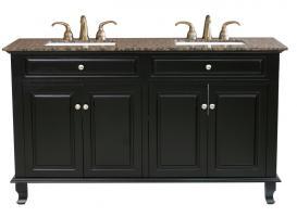 Bellaterra Home 62 Inch Double Sink Bathroom Vanity