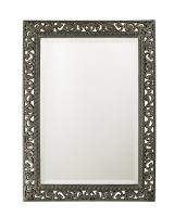 Howard Elliott Bristol Antique Black Mirror with Silver