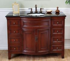 48 Inch Single Sink Bathroom Vanity in Light Walnut