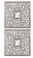 Colusa Square Antiqued Silver Mirror