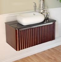 32.5 Inch Single Sink Bathroom Vanity with a Walnut Finish